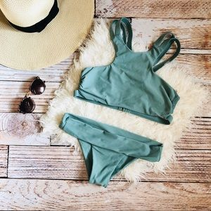 Tori Praver Seafoam Collection High Neck Bikini M